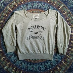 Gray Outer Banks NC Sweatshirt